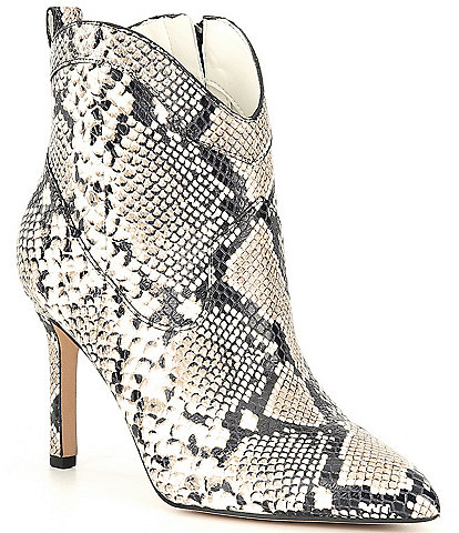 Gianni Bini Ezlee Snake Print Western Dress Booties