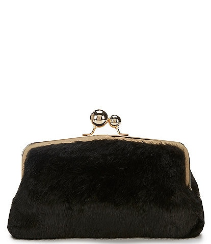 Gianni Bini Faux Fur Frame Clutch