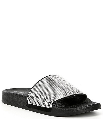 Gianni Bini Fyffer Embellished Suede Shower Slides