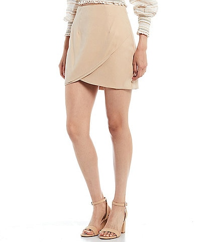 Gianni Bini Genna Lined Wrap High Rise Mini Skirt