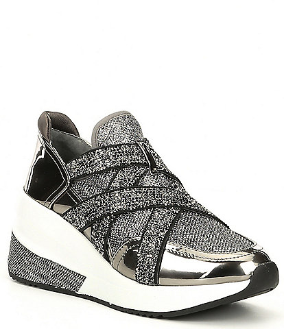 Gianni Bini Glendaa Metallic Chunky Slip-On Sneakers
