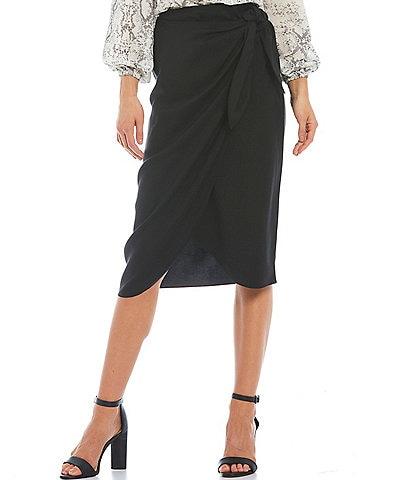 Gianni Bini High Rise Tulip Faux Wrap Stephanie Skirt