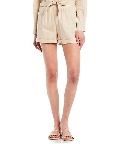 Gianni Bini High Waist Linen Trish Shorts