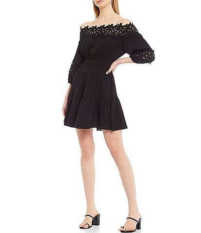 Gianni Bini Jason Off-The-Shoulder Smocked Dress