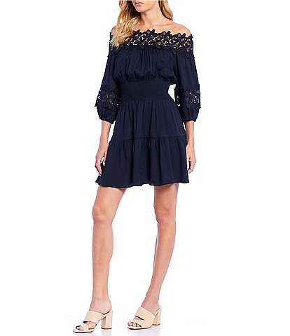 82507c49c8d7 Gianni Bini Jason Off-The-Shoulder Smocked Dress