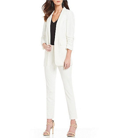 Gianni Bini Jemma Ruched Sleeve Jacket & Houston Skinny Suiting Pant