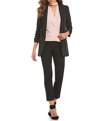 Gianni Bini Jemma Ruched Sleeve Blazer & Houston Twill Pants