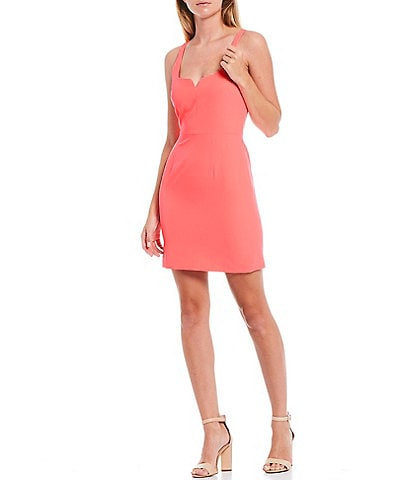 Gianni Bini Jenny Crepe Sweetheart Neck Sleeveless Sheath Dress