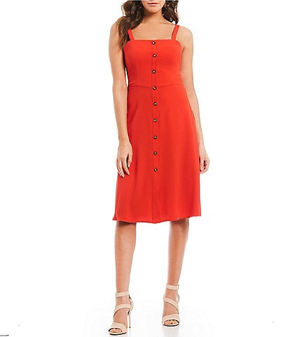 Gianni Bini Jenny Sleeveless Square Neckline Midi Dress