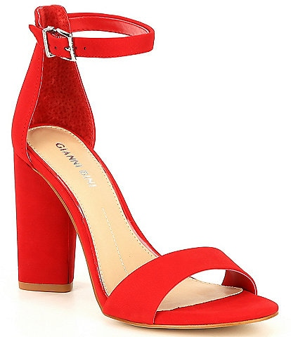 Gianni Bini Joenah Suede Block Heel Dress Sandals