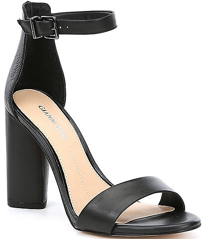 Gianni Bini Joenah Two Piece Ankle Strap Block Heel Dress Sandals
