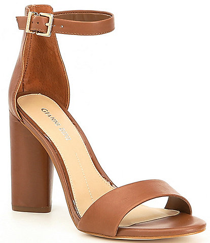 985f52d3d31 Gianni Bini Joenah Two Piece Ankle Strap Block Heel Dress Sandals