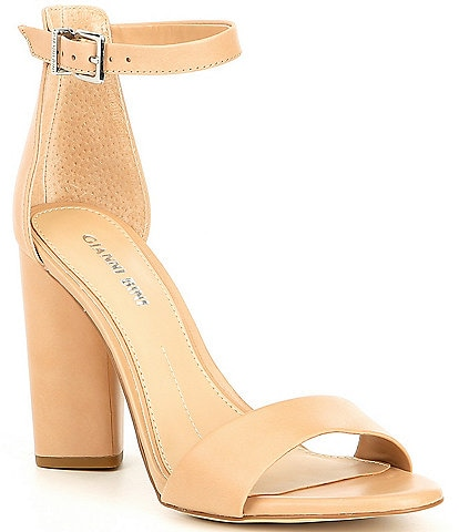 56faf0026e2d Gianni Bini Joenah Two Piece Ankle Strap Block Heel Dress Sandals