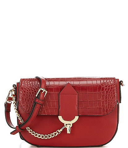 Gianni Bini Juniper Croco Embossed Flap Crossbody Bag