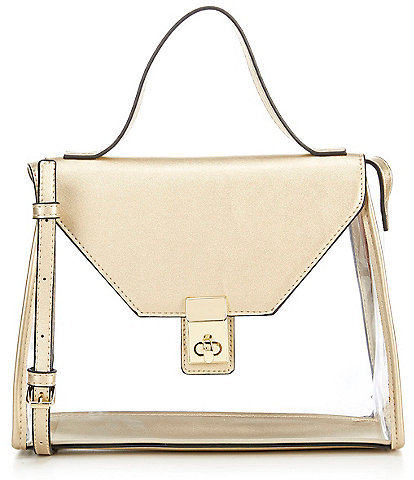 Gianni Bini Kasey Clear Flap Crossbody Bag