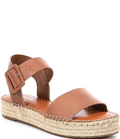 Gianni Bini Kaygan Leather Espadrille Flatform Sandals