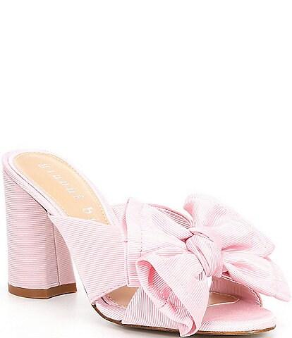 Gianni Bini Keily Bow Detail Block Heel Mules