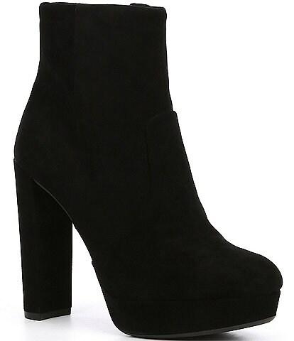 Gianni Bini Kianne Suede Platform Block Heel Booties