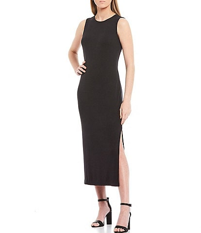 Gianni Bini Knit Round Neck Racer Dress