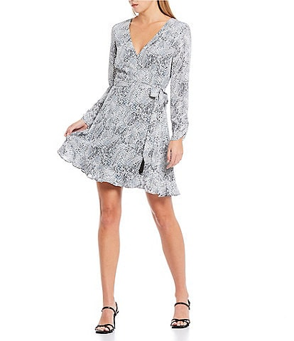 Gianni Bini Laura Snake Print Wrap Dress