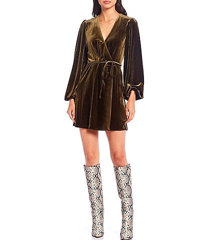 Gianni Bini Leighton Velvet Wrap Dress