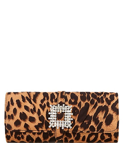 Gianni Bini Leopard Clutch with Brooch
