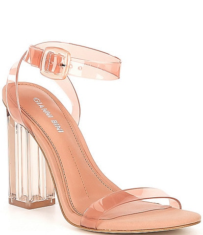 Gianni Bini Liyra Clear Block Heel Sandals