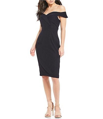 Gianni Bini Lori Off-the-Shoulder Sheath Dress