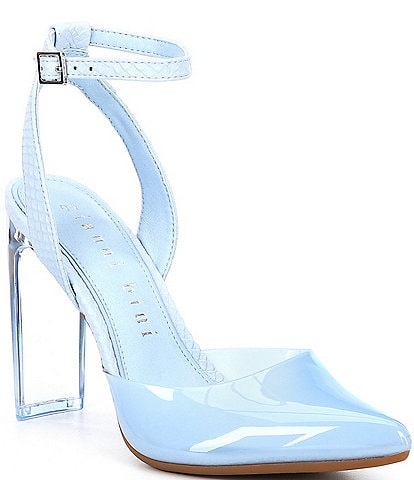 Gianni Bini Lorynnetwo Ankle Strap Clear Vinyl Two Piece Pumps