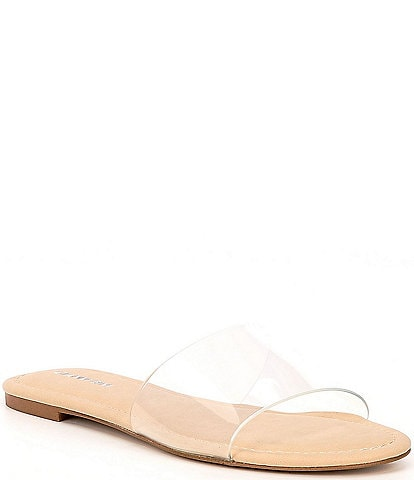 Gianni Bini Lottee Clear Vinyl Slides
