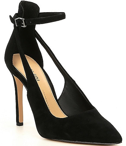 Gianni Bini Lulaa Suede Cut-Out Dress Pumps