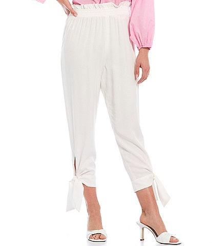 Gianni Bini Lulu Tie-Leg High Rise Pull-On Pants