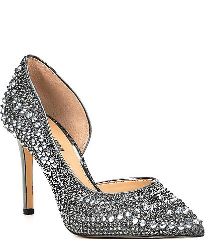 Gianni Bini Mairah Jeweled d'Orsay Stiletto Pumps
