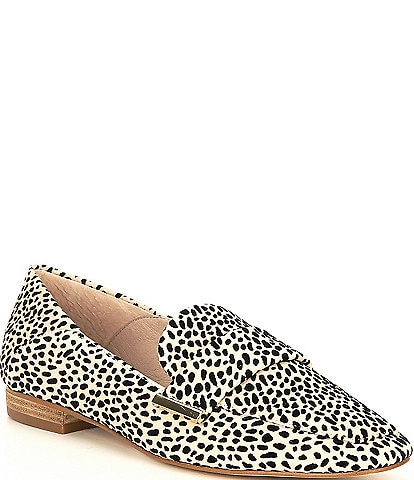 Gianni Bini Maivie Cheetah Print Suede Flat Loafers