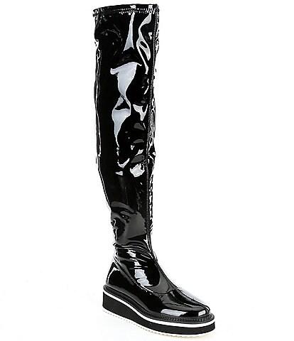 Gianni Bini Marfisia Patent Platform Over-The-Knee Boots