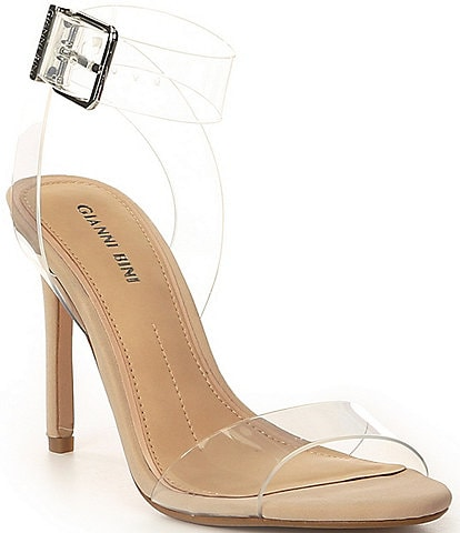 Gianni Bini Martiinne Clear Strappy Sandals