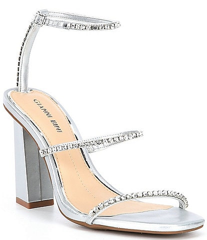 Gianni Bini Marzena Embellished Block Heel Sandals