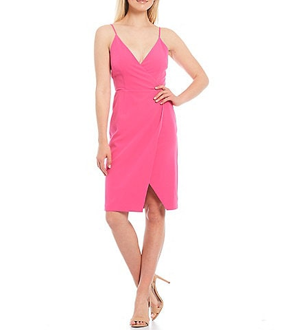 Gianni Bini Melissa V-Neck Sleeveless Crepe Dress