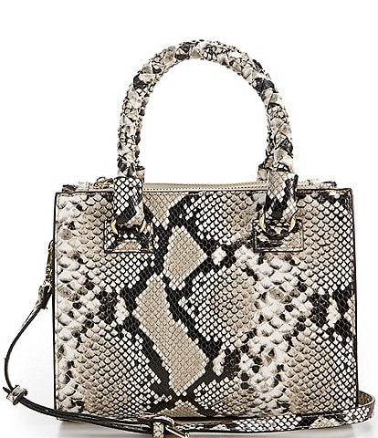 Gianni Bini Mia Snake Printed Satchel Bag