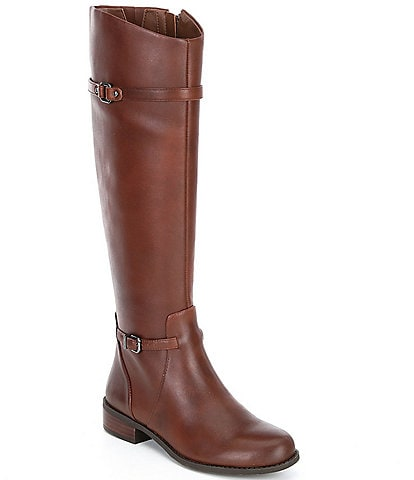 Gianni Bini Mirrie Slim Calf Tall Block Heel Riding Boots