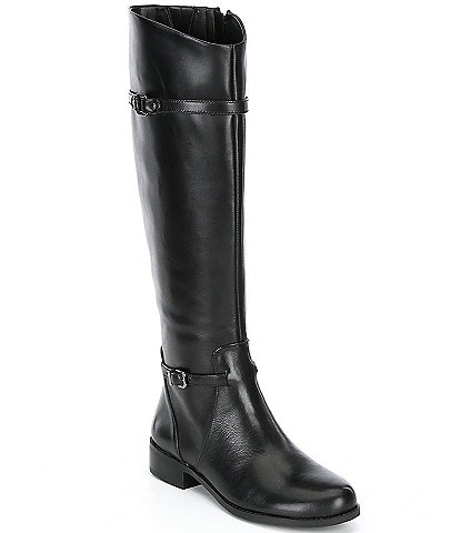 Gianni Bini Mirrie Wide Calf Tall Block Heel Riding Boots