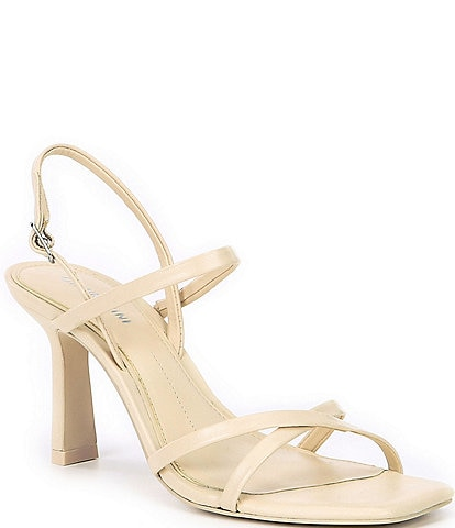 Gianni Bini Neveena Leather Square Toe Dress Sandals