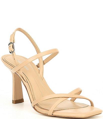Gianni Bini Neveena Leather Square Toe Dress Sandals