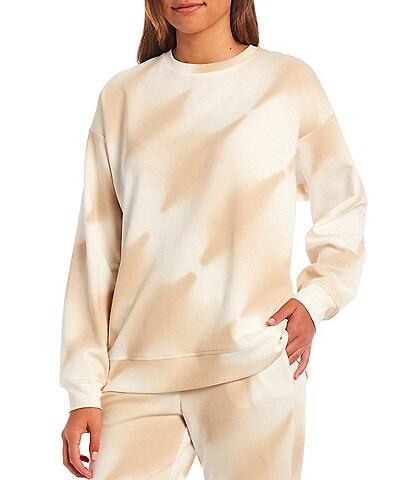 Gianni Bini Nikki Tie Dye Long Sleeve Oversized Coordinating Sweatshirt