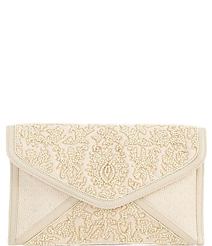 Gianni Bini Pearl Beaded Envelope Clutch