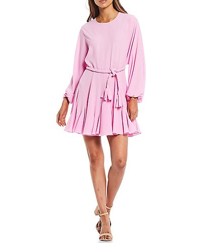 Gianni Bini Riley Belted Long Sleeve Swing Dress