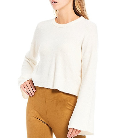 Gianni Bini Sarah Cropped Bell Sleeve Sweater