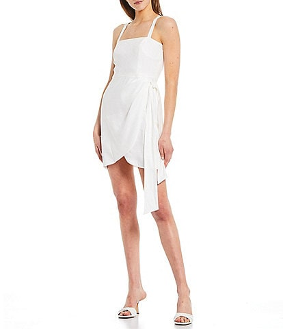 Gianni Bini Selena Linen Wrap Dress