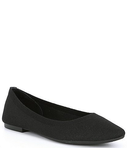 Gianni Bini Semine Stretch Knit Pointed Toe Flats