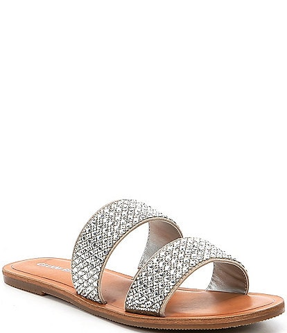 a4071d293bd7 Gianni Bini Stola Jeweled Banded Flat Sandals